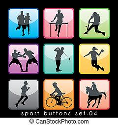 9 Sport Buttons Set