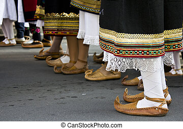 peasant shoe - traditional footwear from Serbia