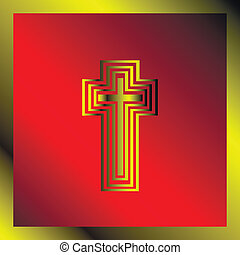 Background with christian cross - vector  illustration,