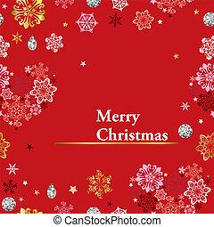 Christmas red frame
