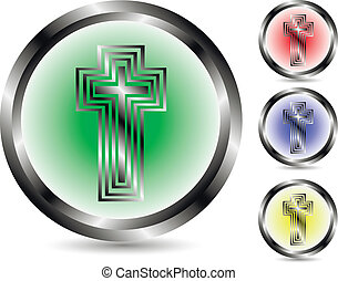 Set of a cross icon - vector Illustration