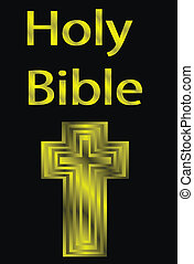 Holy Bible - An image of a holy bible - vector