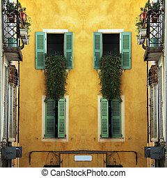 southern facades - Nice mediterranean house facades with...