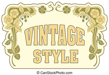 Vintage style label - The vector image Vintage style label