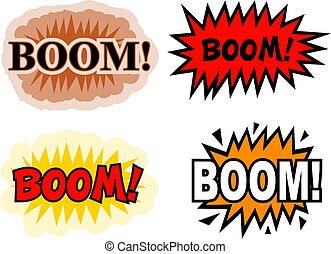 Boom - A collection of comic book cartoon sound effects...