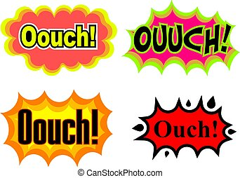 Ouch - A collection of comic book cartoon sound effects...