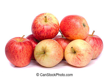 fresh royal gala apples - Close up view of a bunch of royal...