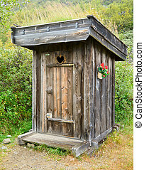 Outhouse - Old wooden outhouse in Norway