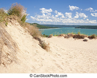Sleeping Bear Dunes - A popular dune overlooking Glen Lake...