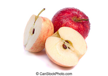 fresh royal gala apples - Close up view of some fresh royal...