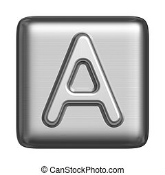 Metal alphabet in the form of a cliche. Capital letter A