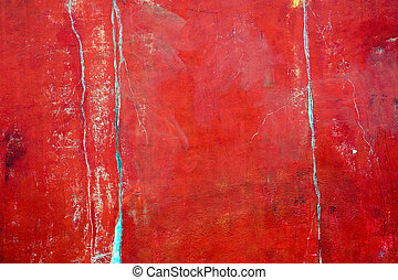 Rustic red plastered wall - An old and worn red plastered...