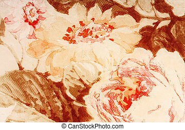 background paper from an old faded flowers abstract -...