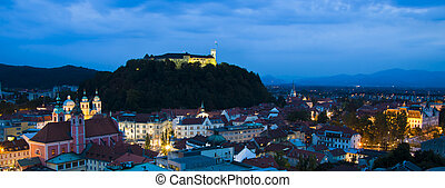 Ljubljana, capital of Slovenia - Panoramic view of...