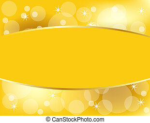 Golden Christmas Background with Copy Space