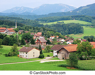 Bavarian idyll - A picturesque village in the bavarian Alps