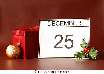 Christmas Day - Christmas day is marked on the calendar in...