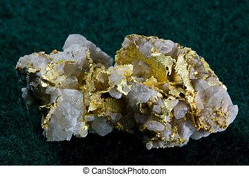 Gold in Quartz Specimen - Colorado - Gold in white Quartz...
