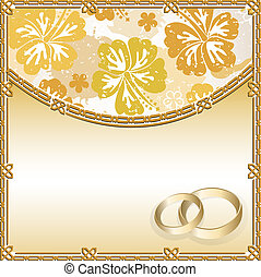 Wedding card with a floral pattern