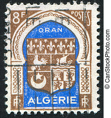 Arms - ALGERIA - CIRCA 1946: stamp printed by Algeria, shows...