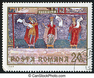 three prophets - ROMANIA - CIRCA 1969: stamp printed by...