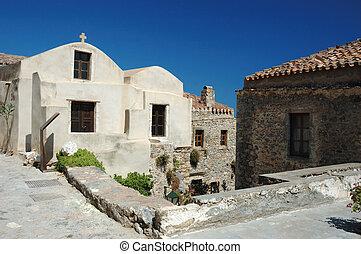 Churches of old byzantine town Monemvasia