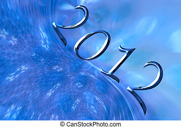 Happy New Year 2012 Christmas background - Christmas blue...