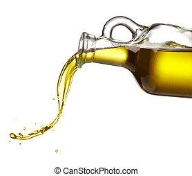 El verter, aceituna, aceite