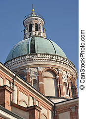sanctuary dome, caravaggio - detail of famous sanctuary...
