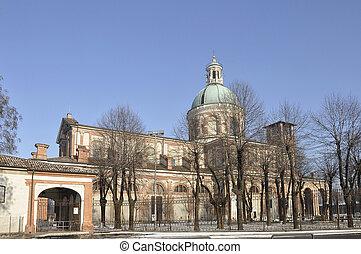sanctuary in winter, caravaggio
