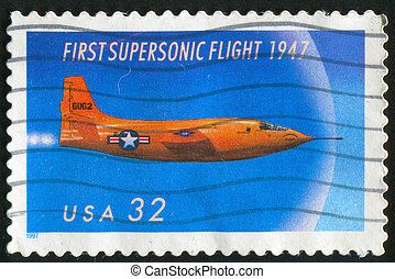 air force - UNITED STATES - CIRCA 1997: stamp printed by...
