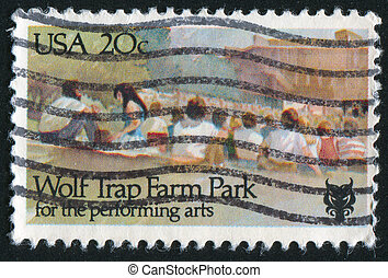 Performing Arts - UNITED STATES - CIRCA 1982: stamp printed...