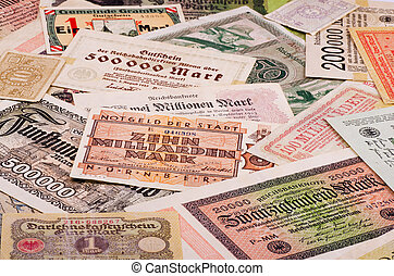 Old German money - Old German notes Emergency money or...