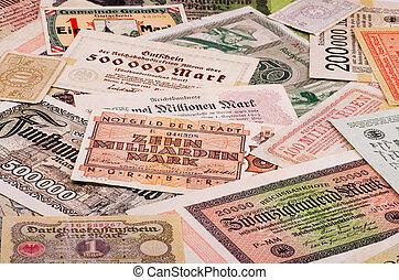 Old German money - Old German notes (Emergency money or...