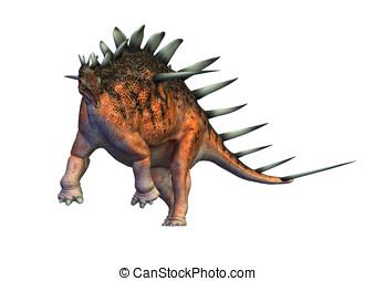 kentrosaurus dinosaur running - Kentrosaurus dinosaur...