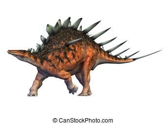 kentrosaurus dinosaur walking - Kentrosaurus a genus of...