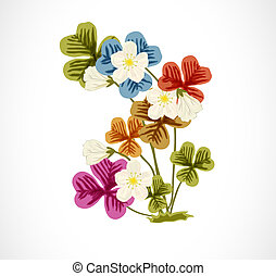 Wood Sorrel, Wild flower. - Colorful Wood Sorrel, Wild...