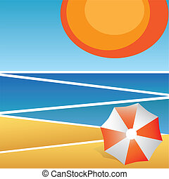 Vacation abstract background. Beach