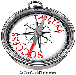 success versus failure compass - success versus failure...