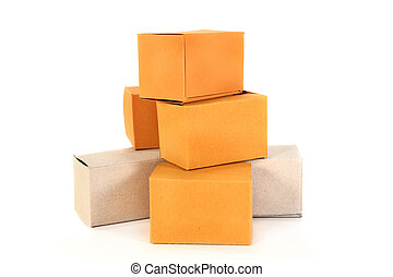 moving box - a stack of packing boxes on a white background
