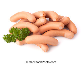 Frankfurter sausage isolated on white background