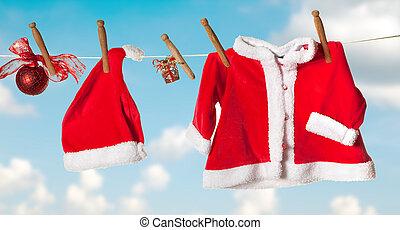 Santa jacket and hat