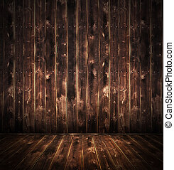 Rustic Wood  room - Rustic room background wih burnt eges
