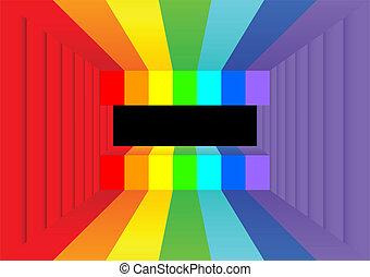 Rainbow room.