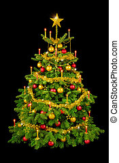 Gorgeous Christmas tree on black - Perfect Christmas tree...