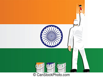 Painting India Flag