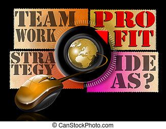 Ideas strategy teamwork profit