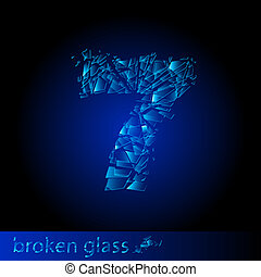 Broken glass  - digit seven
