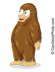 Hairy Creature - Cartoon illustration of a hairy creature...