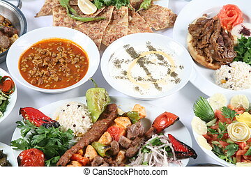 turkish kebab - Turkey meat dishes made from an image of the...